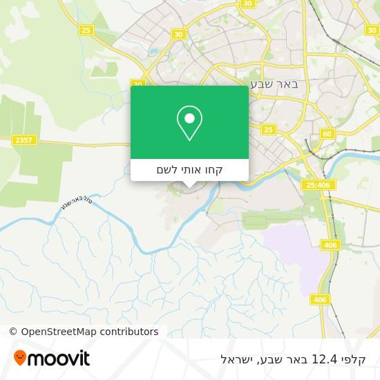 מפת קלפי 12.4 באר שבע