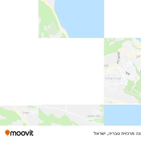 מפת תחנה מרכזית טבריה