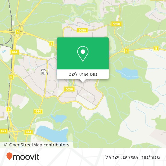 מפת מנור/נווה אפיקים