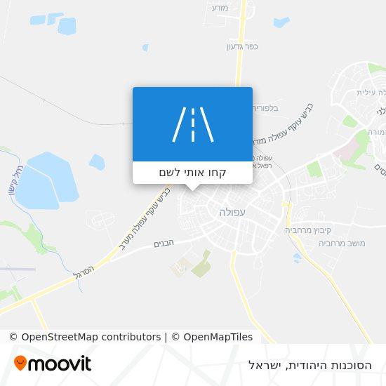 מפת הסוכנות היהודית