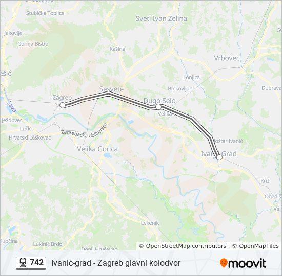 Rota Da Linha 742 Horarios Estacoes E Mapas Zagreb Glavni Kolodvor