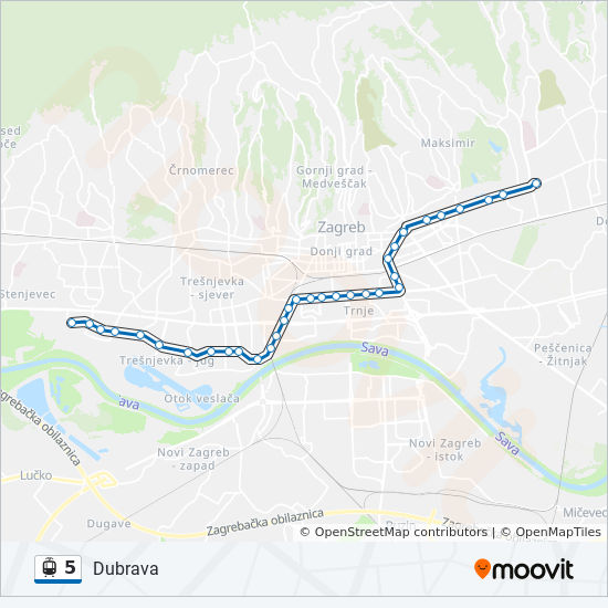 5 Route Time Schedules Stops Maps Dubrava