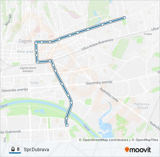 Linea 8 Horarios Mapas Y Paradas Spr Dubrava