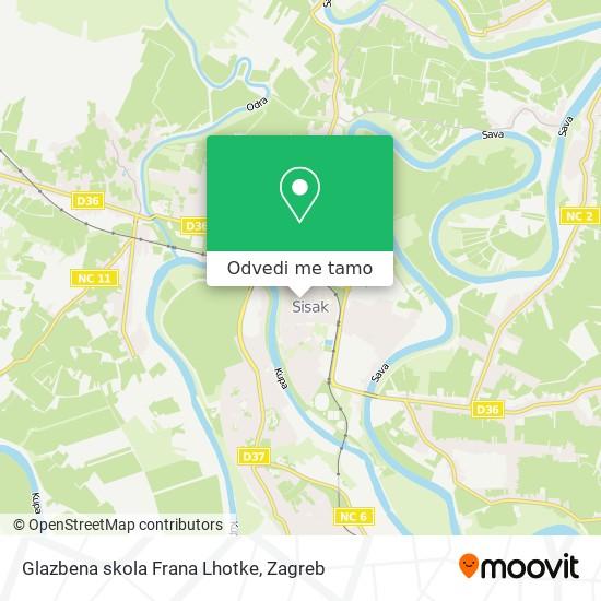 Karta Glazbena skola Frana Lhotke