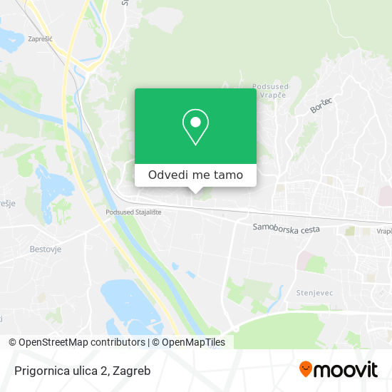 Karta Prigornica ulica 2
