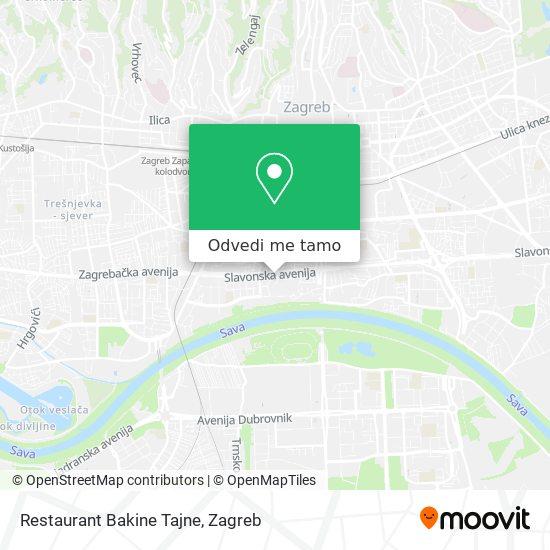Karta Restaurant Bakine Tajne