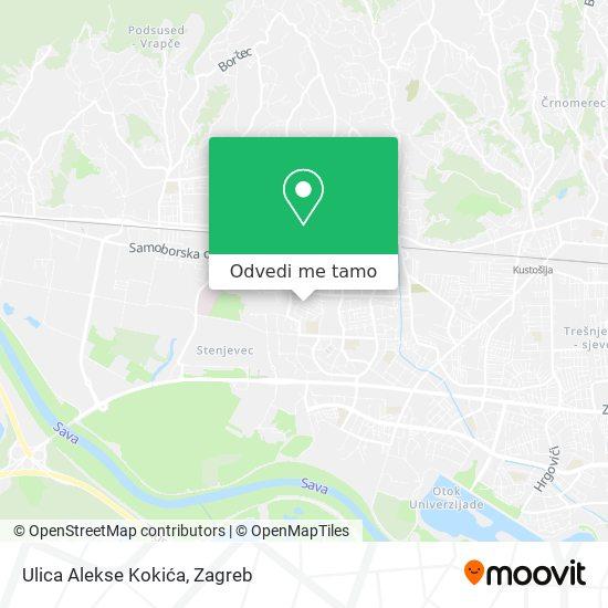 Karta Ulica Alekse Kokića