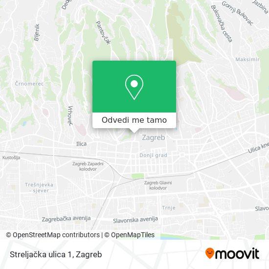 Karta Streljačka ulica 1