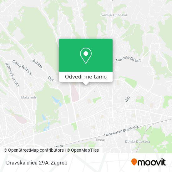 Karta Dravska ulica 29A