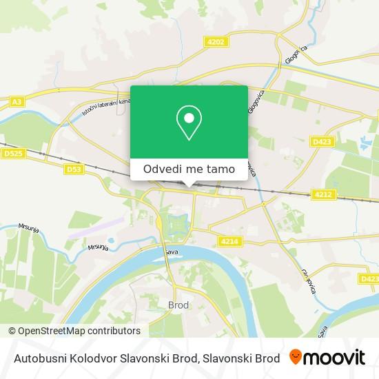 Karta Autobusni Kolodvor Slavonski Brod