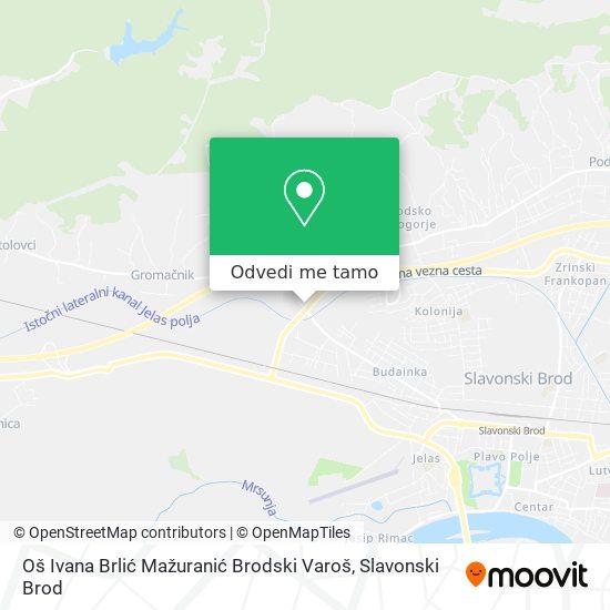 Karta Oš Ivana Brlić Mažuranić Brodski Varoš
