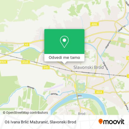 Karta Oš Ivana Brlić Mažuranić