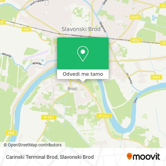Karta Carinski Terminal Brod