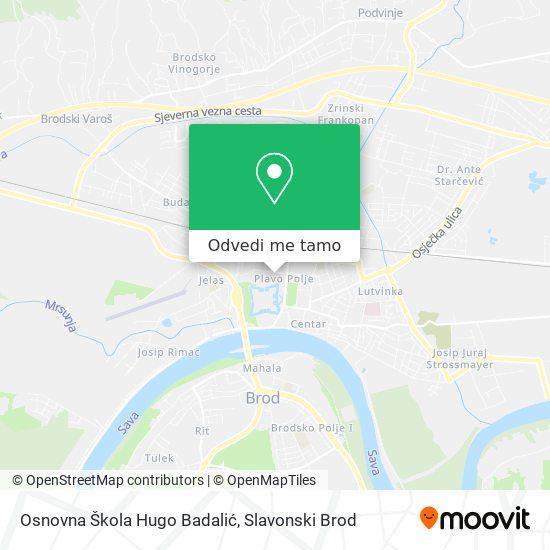 Karta Osnovna Škola Hugo Badalić