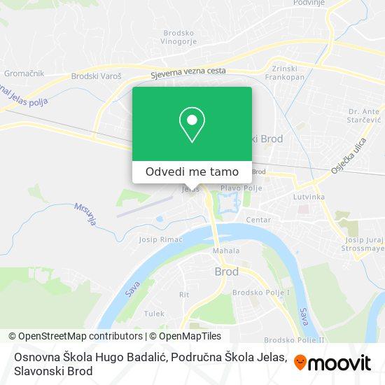 Karta Osnovna Škola Hugo Badalić, Područna Škola Jelas