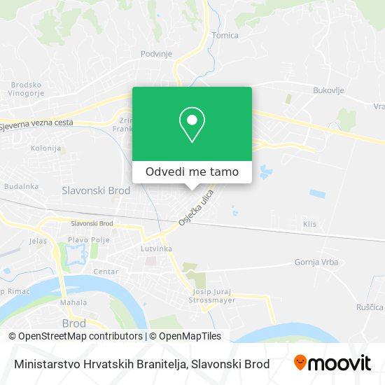 Karta Ministarstvo Hrvatskih Branitelja