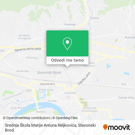 Karta Srednja Škola Matije Antuna Reljkovića