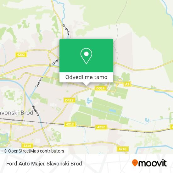 Karta Ford Auto Majer