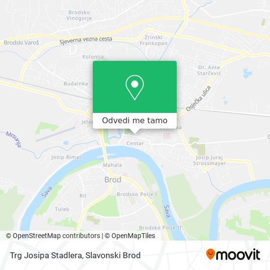 Karta Trg Josipa Stadlera