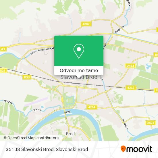 Karta 35108 Slavonski Brod