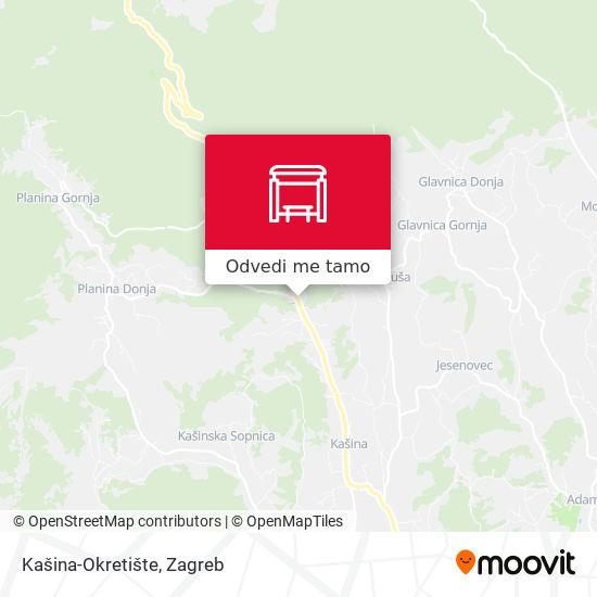 Karta Kašina-Okretište