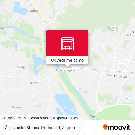 Karta Željeznička Stanica Podsused