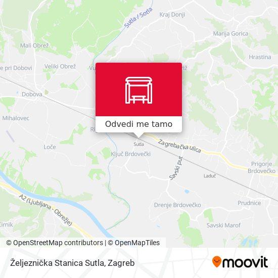 Karta Željeznička Stanica Sutla