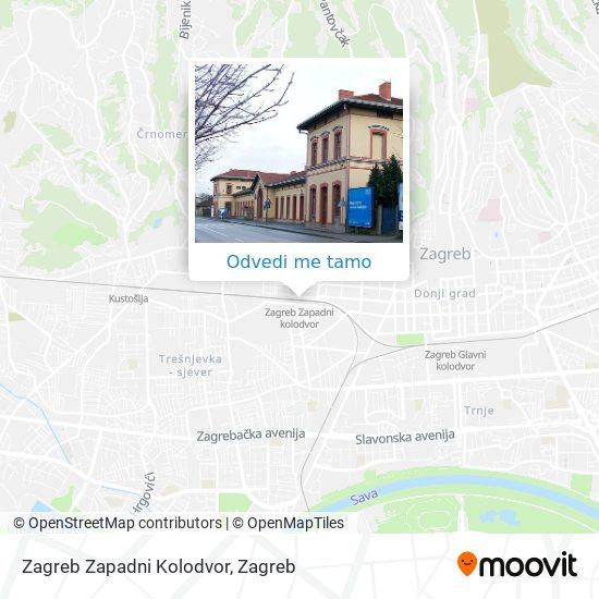 Karta Zagreb Zapadni Kolodvor