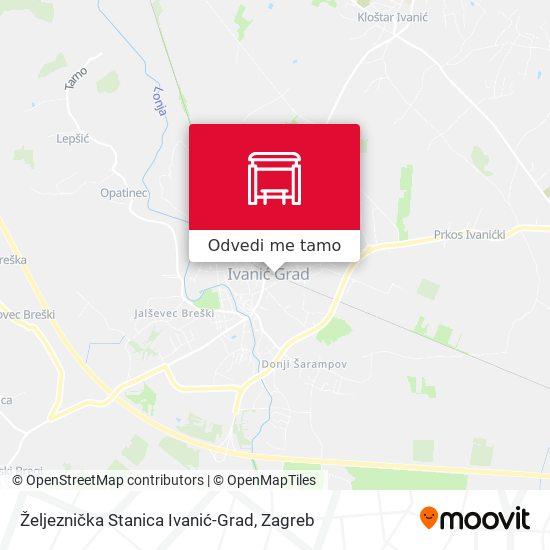 Karta Željeznička Stanica Ivanić-Grad
