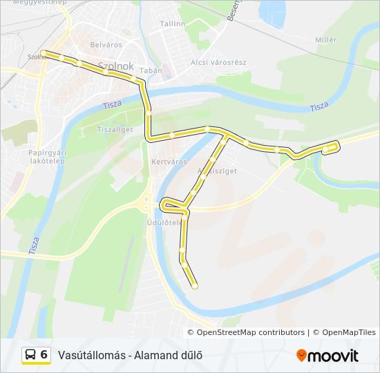 6 Utvonal Menetrendek Megallok Es Terkepek 6 Vasutallomas