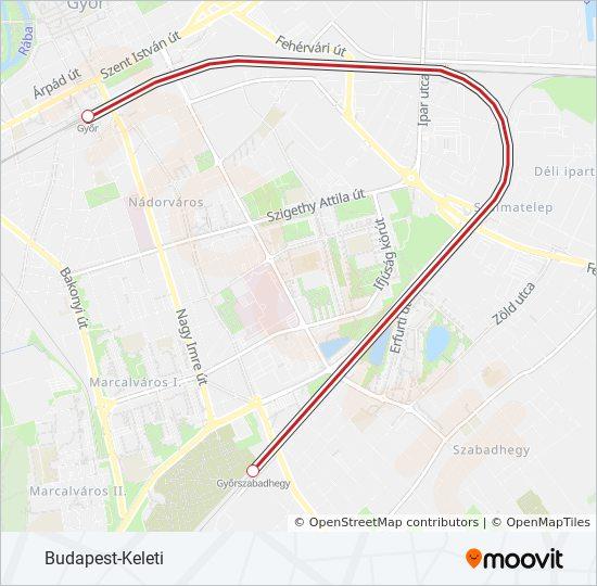 Gy Utvonal Menetrendek Megallok Es Terkepek Budapest Keleti