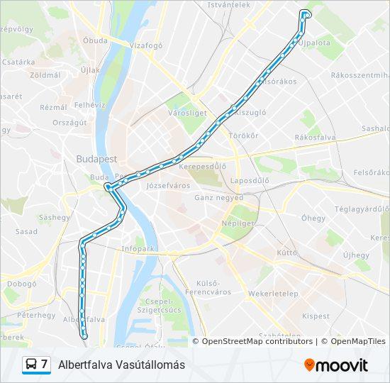 7 Utvonal Menetrendek Megallok Es Terkepek Albertfalva