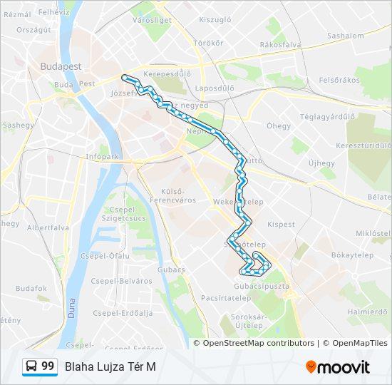 budapest térkép blaha lujza tér 99 útvonal: Menetrendek, megállók és térképek budapest térkép blaha lujza tér