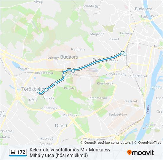 172 Utvonal Menetrendek Megallok Es Terkepek Kelenfold