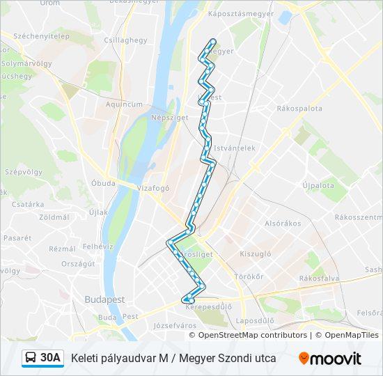 budapest szondi utca térkép 30A útvonal: Menetrendek, megállók és térképek budapest szondi utca térkép