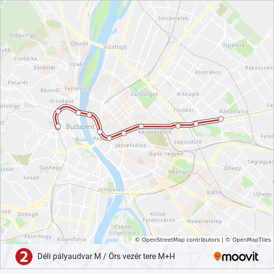 M2 Route Time Schedules Stops Maps Deli Palyaudvar
