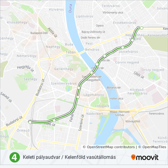 M4 Route Time Schedules Stops Maps Keleti Palyaudvar