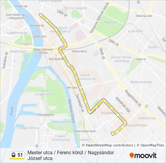 mester utca budapest térkép 51 útvonal: Menetrendek, megállók és térképek mester utca budapest térkép