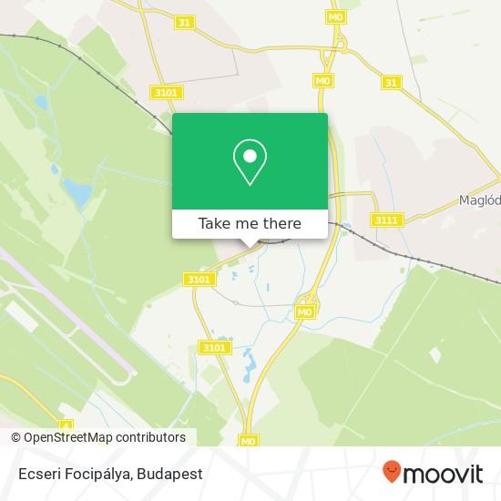 Ecseri Focipálya térkép
