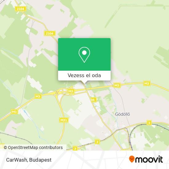 CarWash térkép