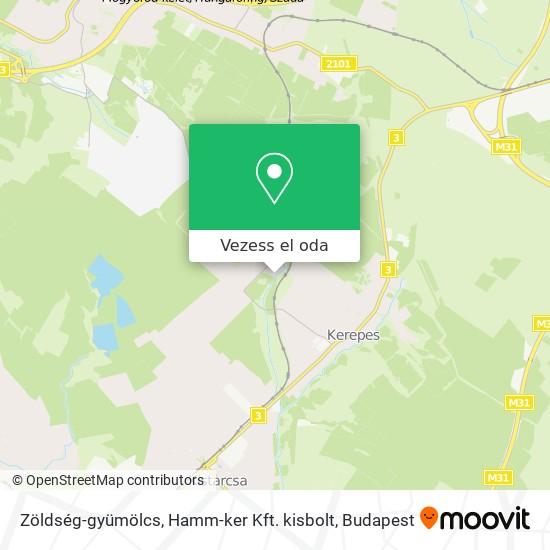 Zöldség-gyümölcs, Hamm-ker Kft. kisbolt térkép
