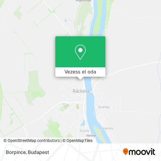 Borpince térkép
