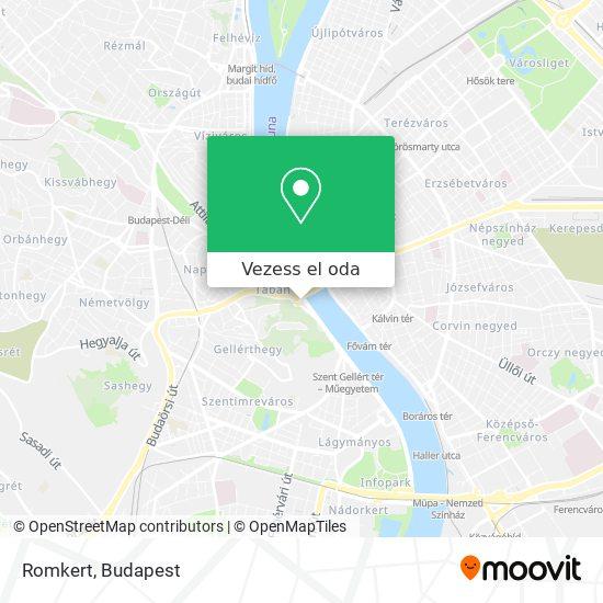Romkert térkép