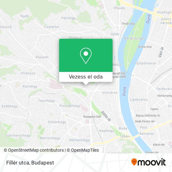Fillér utca térkép