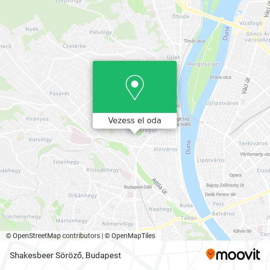 Shakesbeer Söröző térkép