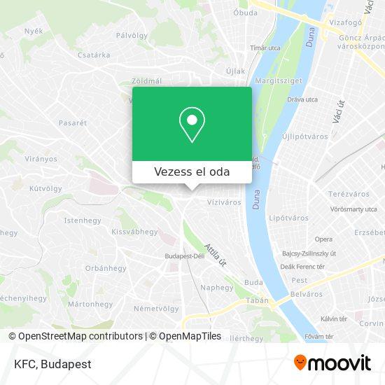 KFC térkép