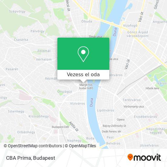 CBA Príma térkép