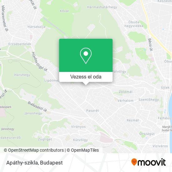 Apáthy-szikla térkép