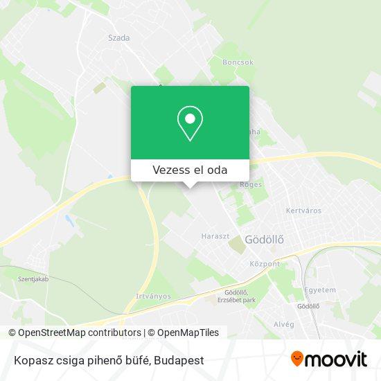 Kopasz csiga pihenő büfé térkép