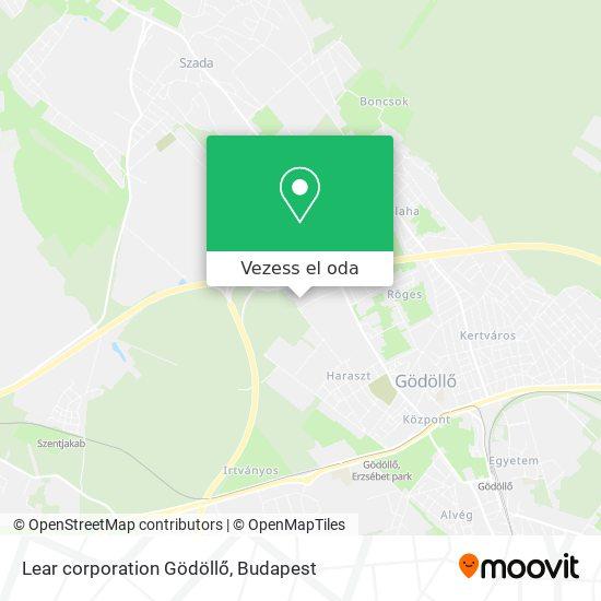 Lear corporation Gödöllő térkép